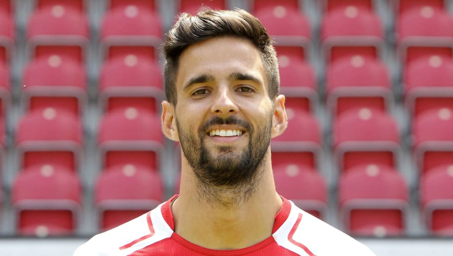 Kenan Kodro of first division Bundesliga football team FSV Mainz 05 poses for a photo in Mainz, Germany, on July 14, 2017. / AFP PHOTO / Daniel ROLAND        (Photo credit should read DANIEL ROLAND/AFP/Getty Images)