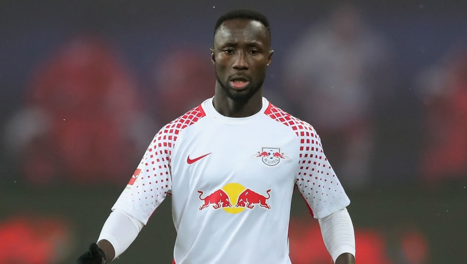 LEIPZIG, GERMANY - FEBRUARY 09: Naby Keita of RB Leipzig runs with the ball during the Bundesliga match between RB Leipzig and FC Augsburg at Red Bull Arena on February 9, 2018 in Leipzig, Germany.  (Photo by Boris Streubel/Bongarts/Getty Images)