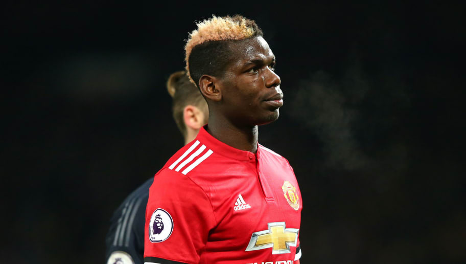 MANCHESTER, ENGLAND - DECEMBER 26:  Paul Pogba of Manchester United look dejected after the Premier League match between Manchester United and Burnley at Old Trafford on December 26, 2017 in Manchester, England.  (Photo by Alex Livesey/Getty Images)