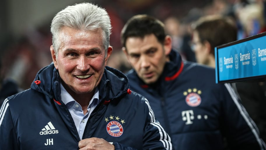 LEVERKUSEN, GERMANY - Jupp Heynckes, head coach of Bayern Muechen arrives prior the Bundesliga match between Bayer 04 Leverkusen and FC Bayern Muenchen at BayArena on January 12, 2018 in Leverkusen, Germany. (Photo by Maja Hitij/Bongarts/Getty Images)