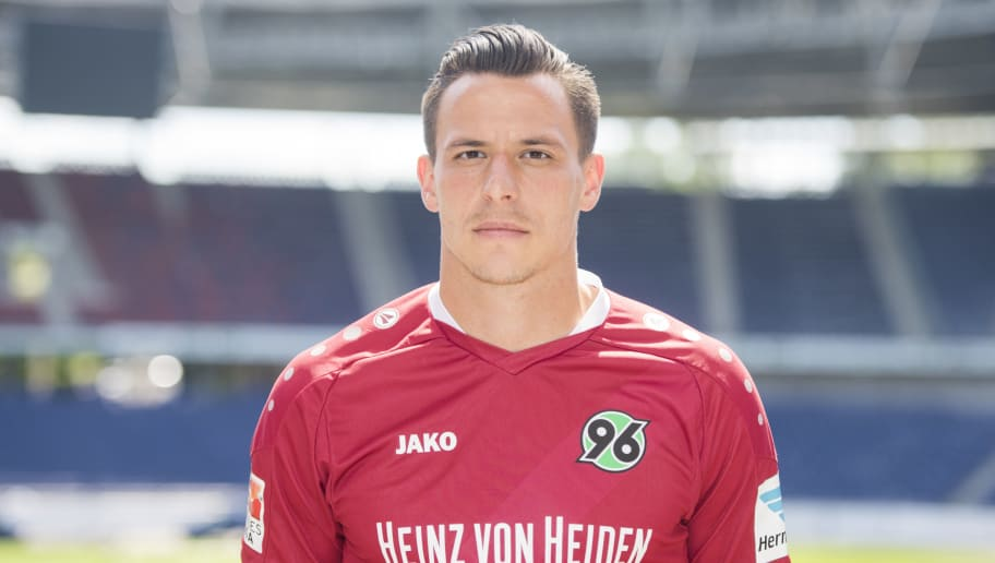 HANOVER, GERMANY - JULY 07:  Edgar Prib poses during the team presentation of Hannover 96 on July 7, 2016 in Hanover, Germany.  (Photo by Nigel Treblin/Bongarts/Getty Images)