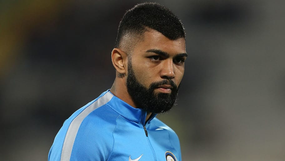 FLORENCE, ITALY - APRIL 22: Gabigol of FC Internazionale during the Serie A match between ACF Fiorentina v FC Internazionale at Stadio Artemio Franchi on April 22, 2017 in Florence, Italy.  (Photo by Gabriele Maltinti/Getty Images)