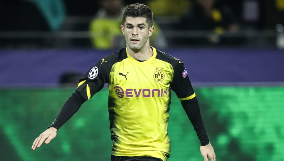 DORTMUND, GERMANY - NOVEMBER 01: Christian Pulisic of Dortmund controls the ball during the UEFA Champions League group H match between Borussia Dortmund and APOEL Nikosia at Signal Iduna Park on November 1, 2017 in Dortmund, Germany. (Photo by Maja Hitij/Bongarts/Getty Images,)