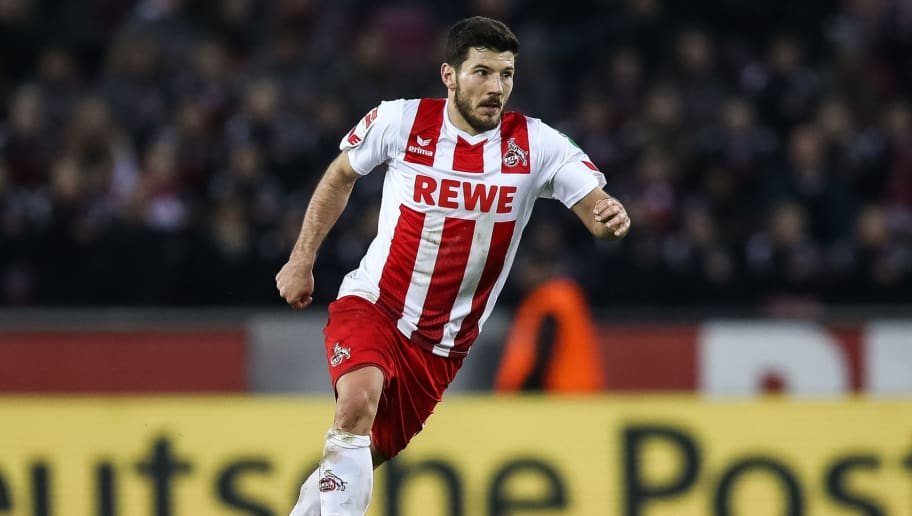 COLOGNE, GERMANY - JANUARY 27: Milos Jojic #8 of 1.FC Koeln controls the ball during the Bundesliga match between 1. FC Koeln and FC Augsburg at RheinEnergieStadion on January 27, 2018 in Cologne, Germany. (Photo by Maja Hitij/Bongarts/Getty Images)
