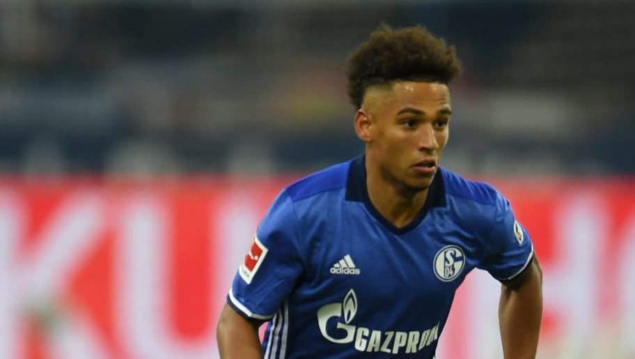 Schalke's defender Thilo Kehrer runs with the ball during the German First division Bundesliga football match FC Schalke 04 vs Hanover 96 in Gelsenkirchen, western Germany, on January 21, 2018. / AFP PHOTO / PATRIK STOLLARZ / RESTRICTIONS: DURING MATCH TIME: DFL RULES TO LIMIT THE ONLINE USAGE TO 15 PICTURES PER MATCH AND FORBID IMAGE SEQUENCES TO SIMULATE VIDEO. == RESTRICTED TO EDITORIAL USE == FOR FURTHER QUERIES PLEASE CONTACT DFL DIRECTLY AT + 49 69 650050         (Photo credit should read PATRIK STOLLARZ/AFP/Getty Images)