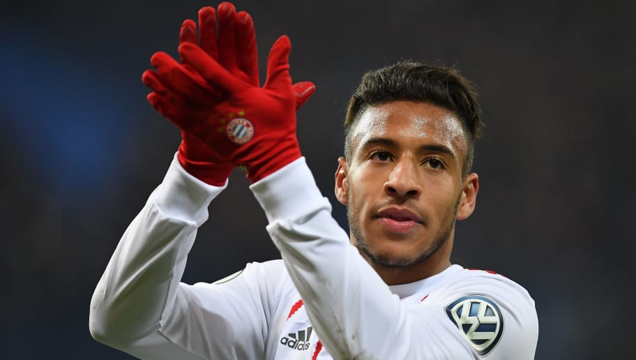 PADERBORN, GERMANY - FEBRUARY 06:  Corentin Tolisso of Muenchen claps during the DFB Pokal quater final match between SC Paderborn and Bayern Muenchen at Benteler Arena on February 6, 2018 in Paderborn, Germany.  (Photo by Stuart Franklin/Bongarts/Getty Images)