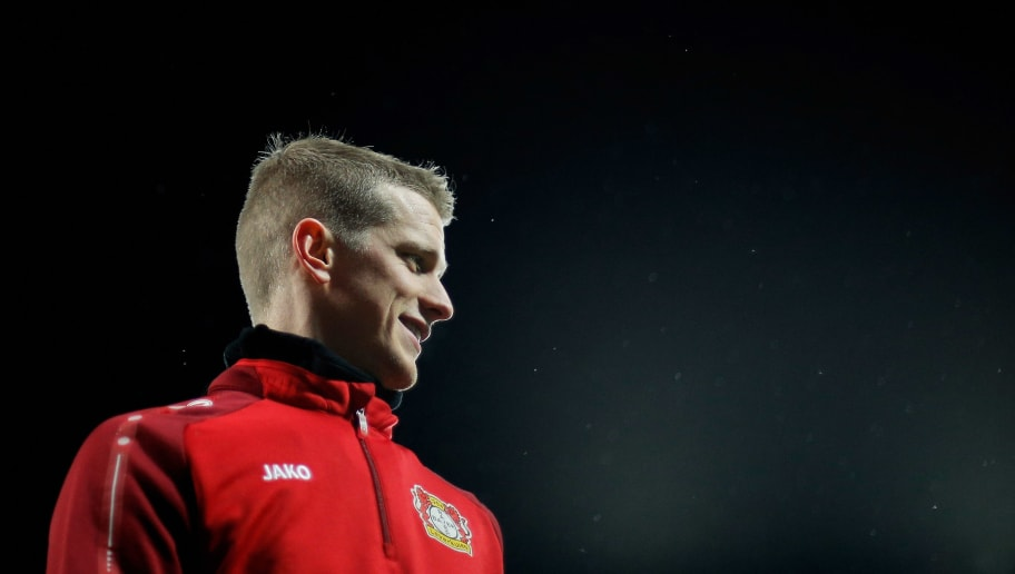 LEVERKUSEN, GERMANY - DECEMBER 13:  Sven Bender of Bayer 04 Leverkusen looks on prior to the Bundesliga match between Bayer 04 Leverkusen and SV Werder Bremen at BayArena on December 13, 2017 in Leverkusen, Germany.  (Photo by Dean Mouhtaropoulos/Bongarts/Getty Images)