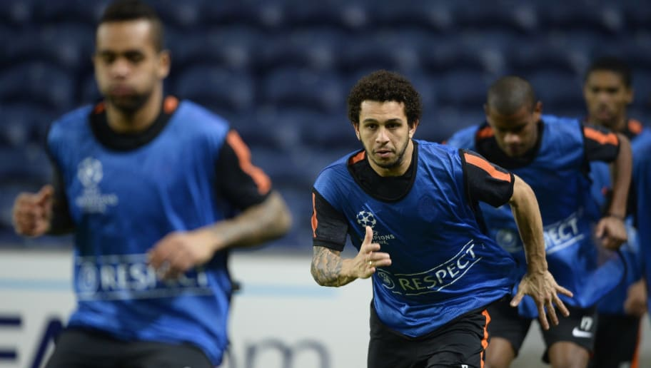 Shakhtar's Brazilian forward Wellington Nem takes part in a training session at the Dragao Stadium in Porto, on December 9, 2014, on the eve of the UEFA Champions League football match against FC Porto.    AFP PHOTO/ MIGUEL RIOPA        (Photo credit should read MIGUEL RIOPA/AFP/Getty Images)