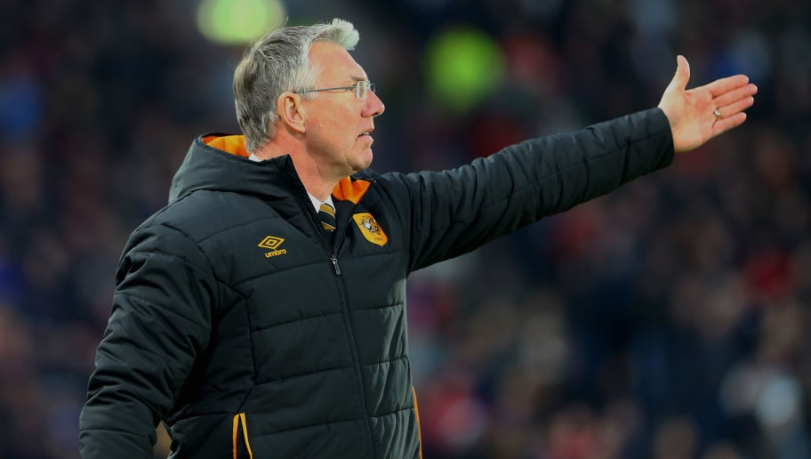 HULL, ENGLAND - JANUARY 27: Hull City's manager Nigel Adkins directs his players during the Emirates FA Cup Fourth Round match between Hull City and Nottingham Forest at KCOM Stadium on January 27, 2018 in Hull, England. (Photo by Ashley Allen/Getty Images)