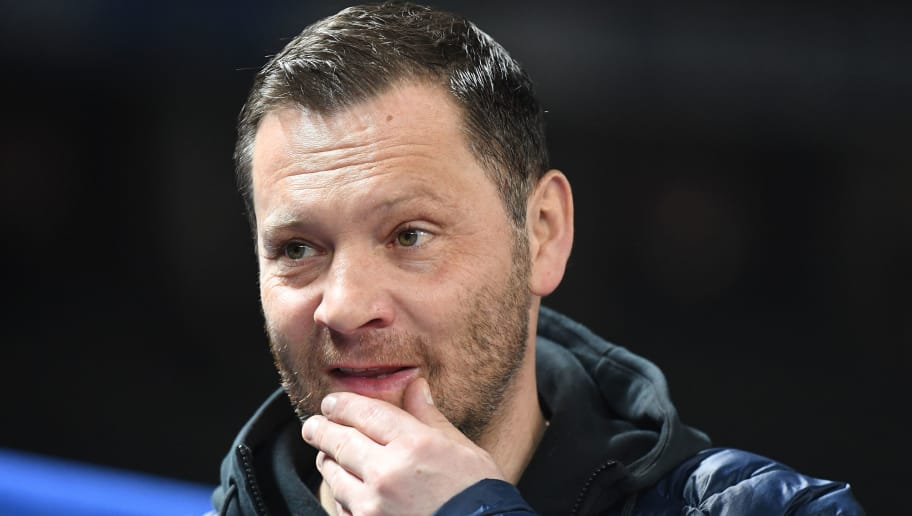 BERLIN, GERMANY - FEBRUARY 16:  Pal Dardai, head coach of Berlin looks on  during the Bundesliga match between Hertha BSC and 1. FSV Mainz 05 at Olympiastadion on February 16, 2018 in Berlin, Germany.  (Photo by Stuart Franklin/Bongarts/Getty Images )