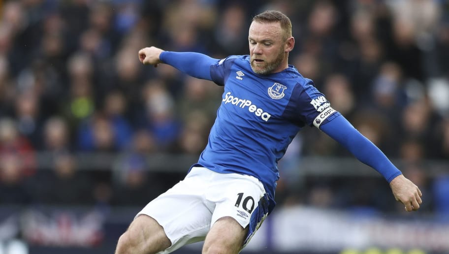 LIVERPOOL, ENGLAND - FEBRUARY 10: Wayne Rooney of Everton during the Premier League match between Everton and Crystal Palace at Goodison Park on February 10, 2018 in Liverpool, England. (Photo by Mark Robinson/Getty Images)