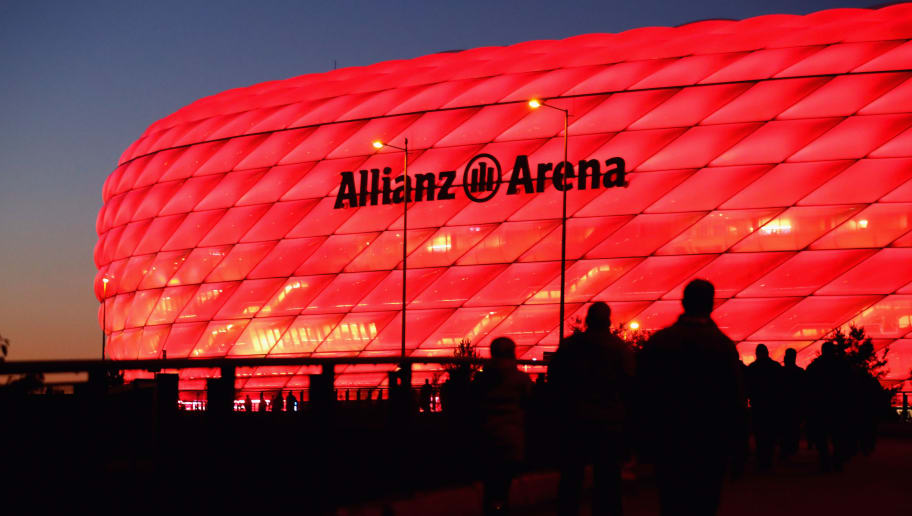 MUNICH, GERMANY - OCTOBER 18:  General view outside the stadium prior to the UEFA Champions League group B match between Bayern Muenchen and Celtic FC at Allianz Arena on October 18, 2017 in Munich, Germany.  (Photo by Alexander Hassenstein/Bongarts/Getty Images)