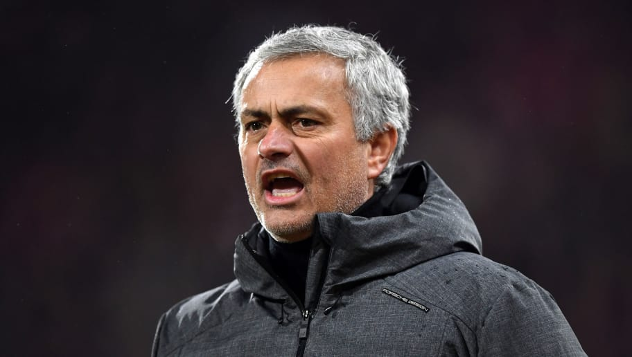 HUDDERSFIELD, ENGLAND - FEBRUARY 17:  Jose Mourinho, Manager of Manchester United gives his team instructions during the The Emirates FA Cup Fifth Round between Huddersfield Town v Manchester United on February 17, 2018 in Huddersfield, United Kingdom.  (Photo by Gareth Copley/Getty Images)