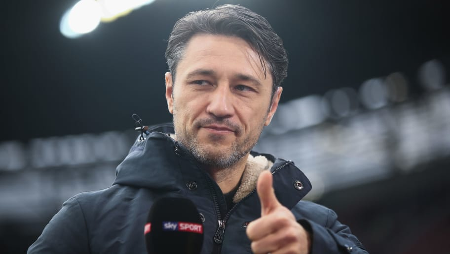 AUGSBURG, GERMANY - FEBRUARY 04:  Head coach Niko Kovac of Frankfurt looks on prior to the Bundesliga match between FC Augsburg and Eintracht Frankfurt at WWK-Arena on February 4, 2018 in Augsburg, Germany.  (Photo by Alex Grimm/Bongarts/Getty Images)