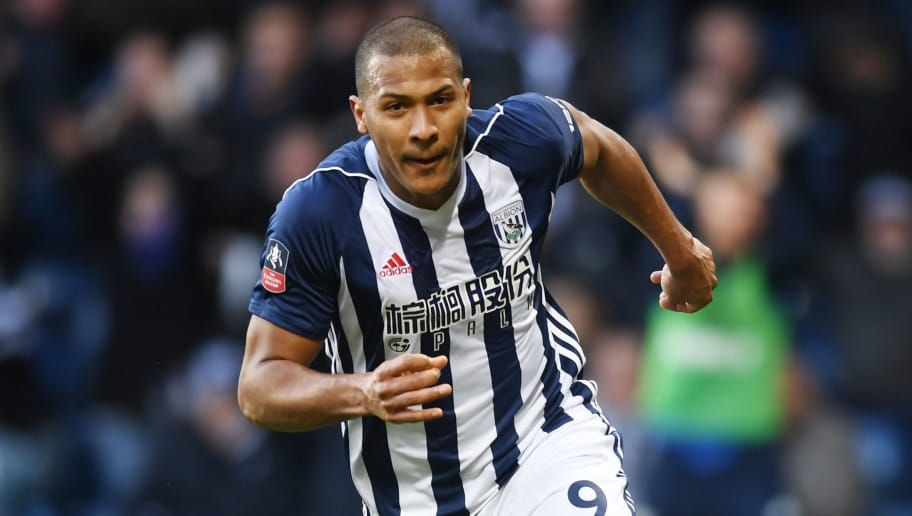 WEST BROMWICH, ENGLAND - FEBRUARY 17:  Jose Salomon Rondon of West Bromwich Albion celebrates scoring his side's first goal during the The Emirates FA Cup Fifth Round between West Bromwich Albion v Southampton at The Hawthorns on February 17, 2018 in West Bromwich, England.  (Photo by Michael Regan/Getty Images)