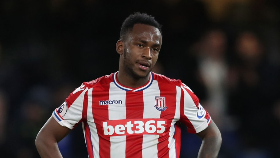 LONDON, ENGLAND - DECEMBER 30: Saido Berahino of Stoke City during the Premier League match between Chelsea and Stoke City at Stamford Bridge on December 30, 2017 in London, England. (Photo by Catherine Ivill/Getty Images)
