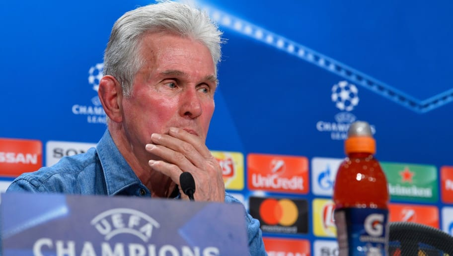 Bayern Munich's head coach Jupp Heynckes looks on during a press conference on February 19, 2018 in Munich, southern Germany, on the eve of the UEFA Champions League round of sixteen first leg football match Bayern Munich vs Besiktas Istanbul.   / AFP PHOTO / Thomas KIENZLE        (Photo credit should read THOMAS KIENZLE/AFP/Getty Images)