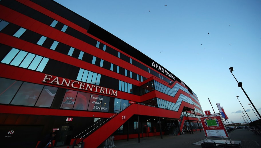 ALKMAAR, NETHERLANDS - MARCH 02:  A general view outside the ground prior to the Dutch KNVB Cup Semi-final match between AZ Alkmaar and SC Cambuur held at AFAS Stadion on March 2, 2017 in Alkmaar, Netherlands.  (Photo by Dean Mouhtaropoulos/Getty Images)