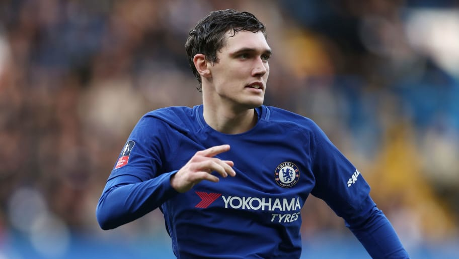 LONDON, ENGLAND - JANUARY 28: Andreas Christensen of Chelsea during the Emirates FA Cup Fourth Round match between Chelsea and Newcastle United on January 28, 2018 in London, United Kingdom. (Photo by Catherine Ivill/Getty Images)