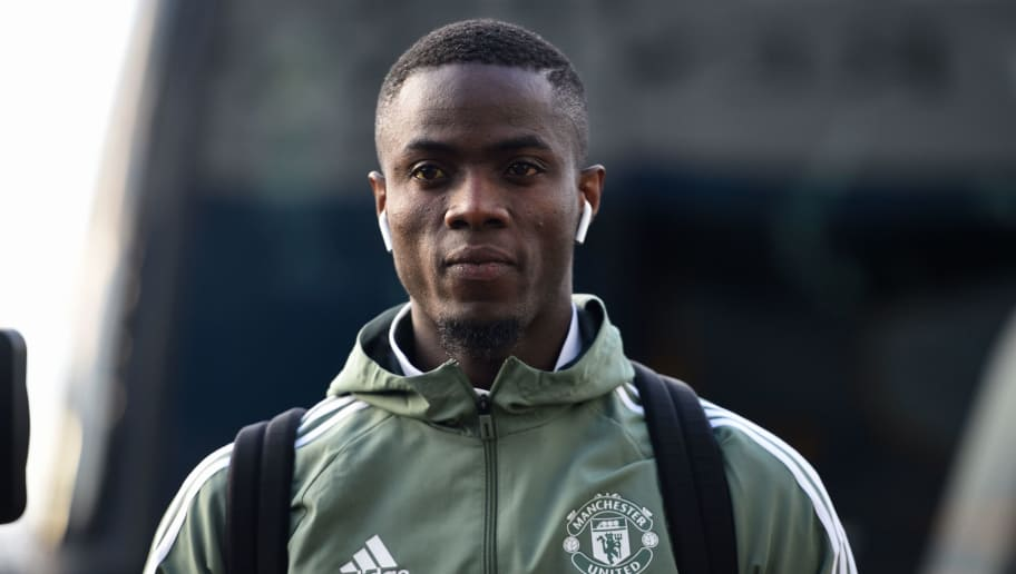 Manchester United's Ivorian defender Eric Bailly arrives ahead of the English FA Cup fifth round football match between Huddersfield Town and Manchester United at the John Smith's stadium in Huddersfield, northern England on February 17, 2018. / AFP PHOTO / Oli SCARFF / RESTRICTED TO EDITORIAL USE. No use with unauthorized audio, video, data, fixture lists, club/league logos or 'live' services. Online in-match use limited to 75 images, no video emulation. No use in betting, games or single club/league/player publications.  /         (Photo credit should read OLI SCARFF/AFP/Getty Images)