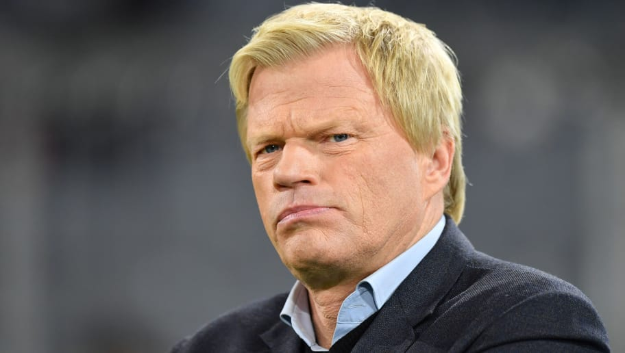 MUNICH, GERMANY - OCTOBER 18: Oliver Kahn looks on prior to the UEFA Champions League group B match between Bayern Muenchen and Celtic FC at Allianz Arena on October 18, 2017 in Munich, Germany. (Photo by Sebastian Widmann/Bongarts/Getty Images )