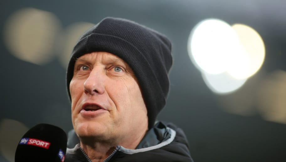 HANOVER, GERMANY - FEBRUARY 10: Headcoach Christian Streich of SC Freiburg looks on prior to the Bundesliga match between Hannover 96 and Sport-Club Freiburg at HDI-Arena on February 10, 2018 in Hanover, Germany. (Photo by Selim Sudheimer/Bongarts/Getty Images)