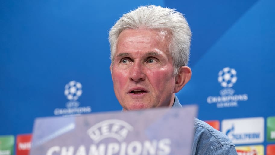 MUNICH, GERMANY - FEBRUARY 19: Jupp Heynckes, head coach of FC Bayern Muenchen talks to the media during a press conference ahead the Campions League match between FC Bayern Muenchen and Besiktas Istanbul at Allianz Arena on February 19, 2018 in Munich, Germany. (Photo by Jan Hetfleisch/Bongarts/Getty Images)