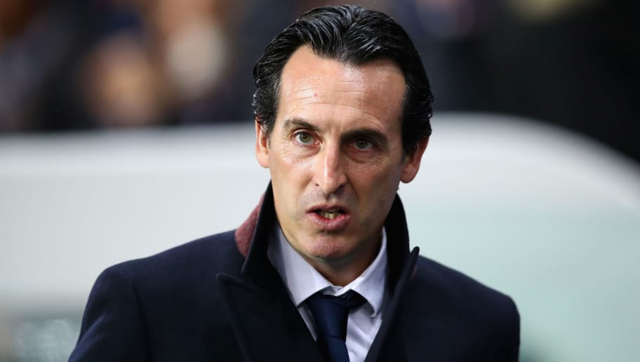 PARIS, FRANCE - OCTOBER 31: Unai Emery, head coach of PSG looks on during the UEFA Champions League group B match between Paris Saint-Germain and RSC Anderlecht at Parc des Princes on October 31, 2017 in Paris, France.  (Photo by Dean Mouhtaropoulos/Getty Images)