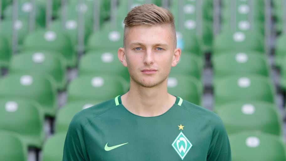 BREMEN, GERMANY - JULY 07: Ole Kaeuper of Werder Bremen II poses during the official team presentation of Werder Bremen II at Weserstadion on July 7, 2017 in Bremen, Germany. (Photo by Carmen Frisch/Bongarts/Getty Images)