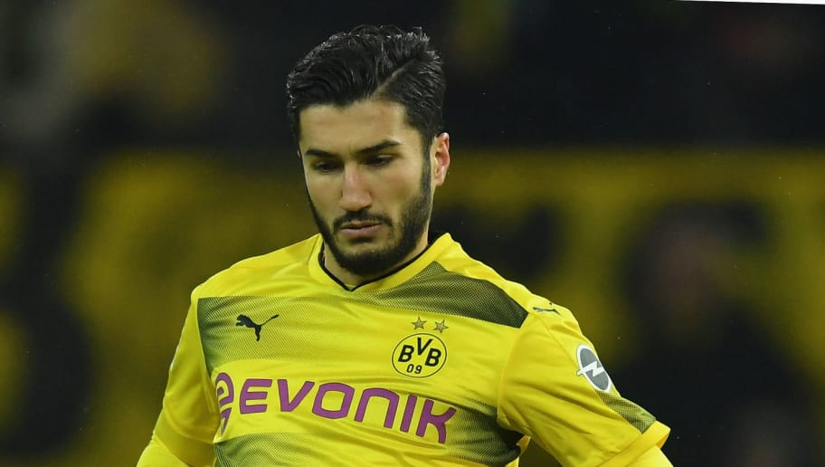 DORTMUND, GERMANY - DECEMBER 09:  Nuri Sahin of Dortmund in action during the Bundesliga match between Borussia Dortmund and SV Werder Bremen at Signal Iduna Park on December 9, 2017 in Dortmund, Germany.  (Photo by Stuart Franklin/Bongarts/Getty Images )