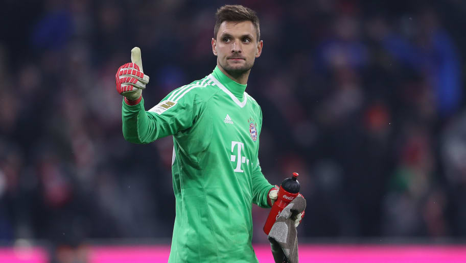 MUNICH, GERMANY - FEBRUARY 10: Sven Ulreich of Bayern Muenchen gives a thumbs up after the Bundesliga match between FC Bayern Muenchen and FC Schalke 04 at Allianz Arena on February 10, 2018 in Munich, Germany. (Photo by Alex Grimm/Bongarts/Getty Images)