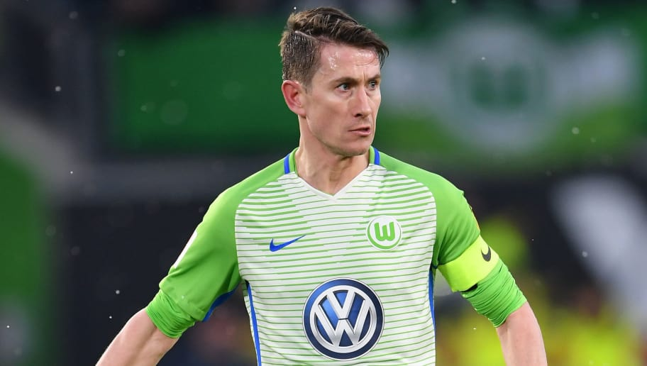 WOLFSBURG, GERMANY - FEBRUARY 03:  Paul Verhaegh of Wolfsburg in action during the Bundesliga match between VfL Wolfsburg and VfB Stuttgart at Volkswagen Arena on February 3, 2018 in Wolfsburg, Germany.  (Photo by Stuart Franklin/Bongarts/Getty Images)