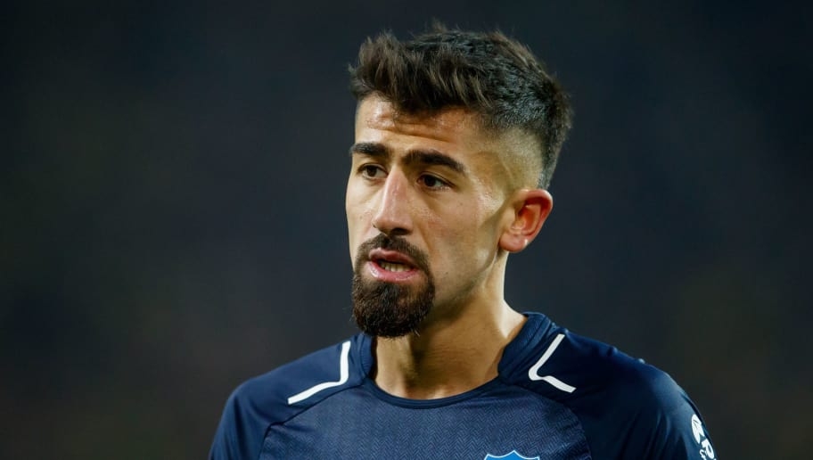 DORTMUND, GERMANY - DECEMBER 16:  Kerem Demirbay of Hoffenheim runs looks on during the Bundesliga match between Borussia Dortmund and TSG 1899 Hoffenheim at Signal Iduna Park on December 16, 2017 in Dortmund, Germany.  (Photo by Lars Baron/Bongarts/Getty Images)