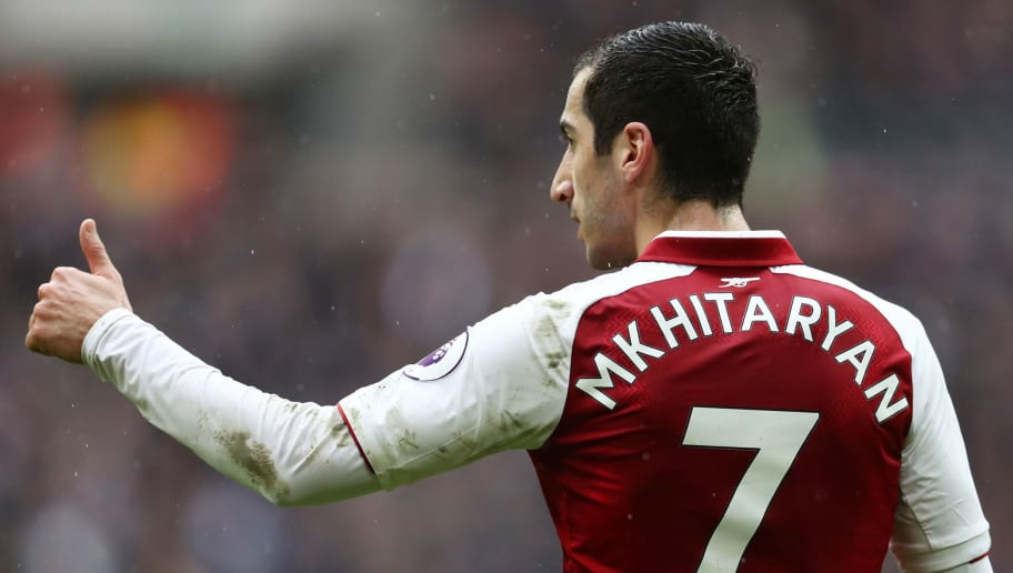 LONDON, ENGLAND - FEBRUARY 10: Henrikh Mkhitaryan of Arsenal during the Premier League match between Tottenham Hotspur and Arsenal at Wembley Stadium on February 10, 2018 in London, England. (Photo by Catherine Ivill/Getty Images)