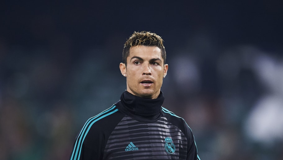 SEVILLE, SPAIN - FEBRUARY 18:  Cristiano Ronaldo of Real Madrid looks on during a Real Madrid training session prior to the La Liga match between Real Betis and Real Madrid at Benito Villamrin stadium on February 18, 2018 in Seville, Spain.  (Photo by Aitor Alcalde/Getty Images)