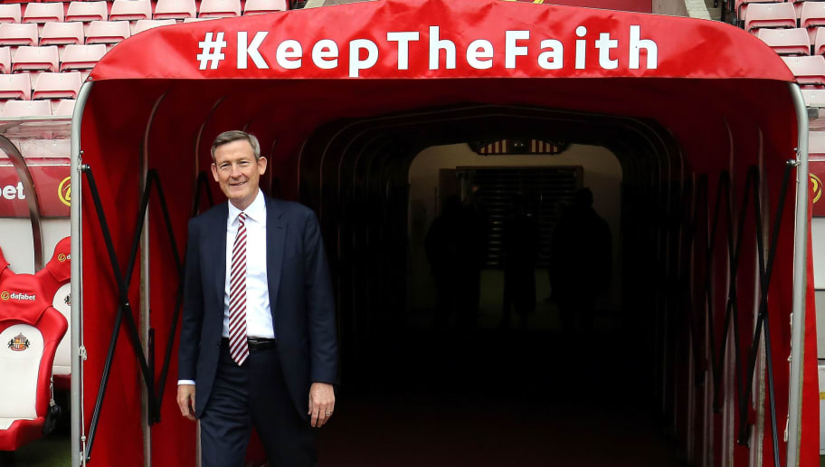 SUNDERLAND, ENGLAND - MARCH 18:  Ellis Short, Sunderland chairman walks out of the tunnel to take a look at the pitch prior to the Premier League match between Sunderland and Burnley at Stadium of Light on March 18, 2017 in Sunderland, England.  (Photo by Nigel Roddis/Getty Images)