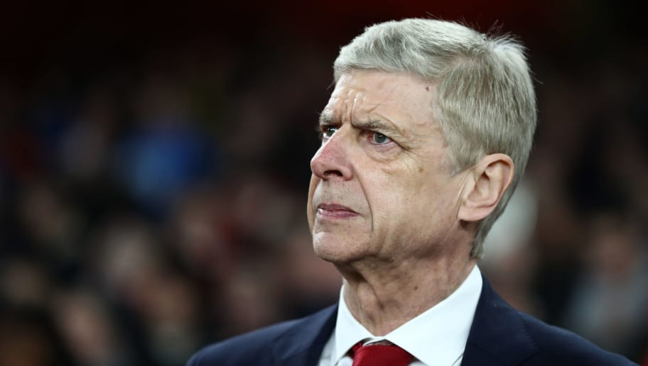 LONDON, ENGLAND - FEBRUARY 22: Arsene Wenger manager / head coach of Arsenal during the UEFA Europa League Round of 32 match between Arsenal and Ostersunds FK at the Emirates Stadium on February 22, 2018 in London, United Kingdom. (Photo by Catherine Ivill/Getty Images)