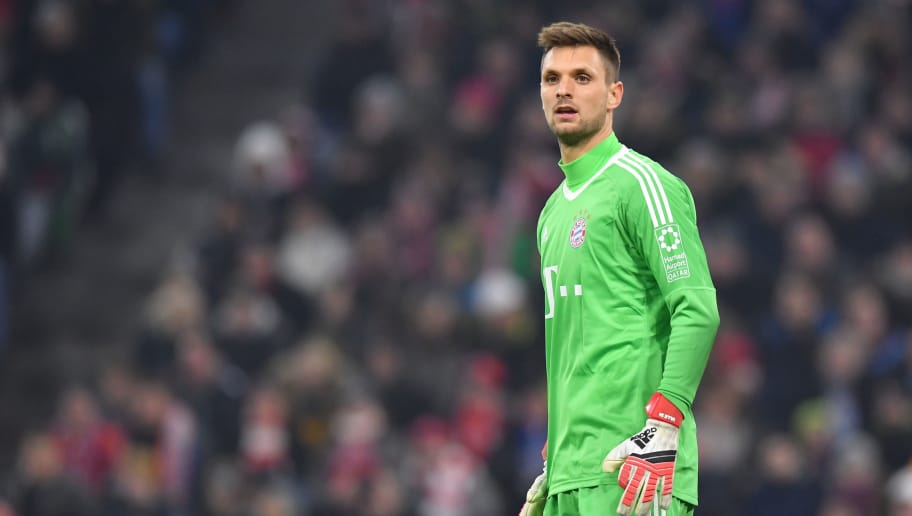 MUNICH, GERMANY - FEBRUARY 10: Goalkeeper Sven Ulreich of Bayern Muenchen looks on during the Bundesliga match between FC Bayern Muenchen and FC Schalke 04 at Allianz Arena on February 10, 2018 in Munich, Germany. (Photo by Sebastian Widmann/Bongarts/Getty Images)