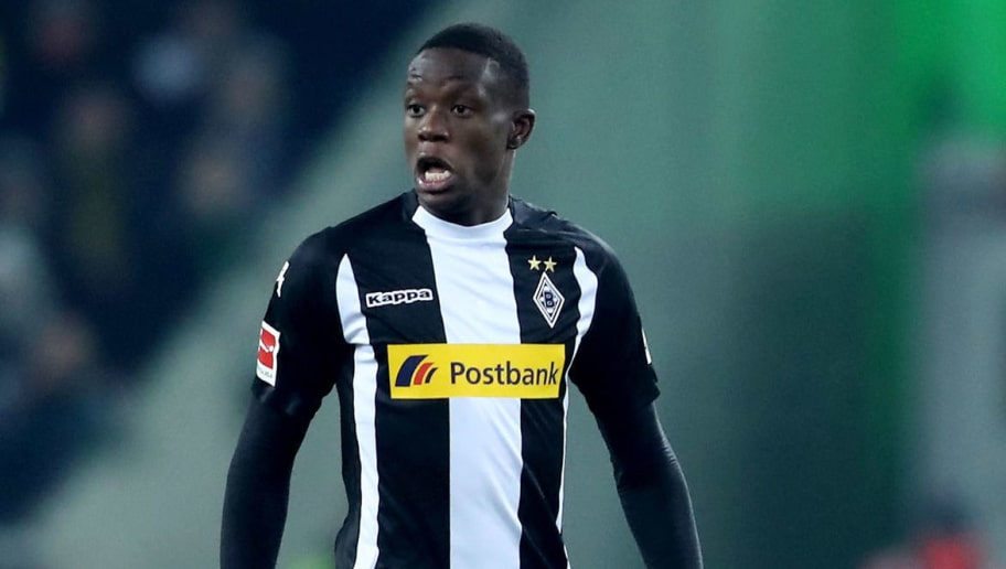 MOENCHENGLADBACH, GERMANY - FEBRUARY 18: Denis Zakaria of Moenchengladbach runs with the ball during the Bundesliga match between Borussia Moenchengladbach and Borussia Dortmund at Borussia-Park on February 18, 2018 in Moenchengladbach, Germany. The match between Moenchengladbach and Dortmund ended 0-1. (Photo by Christof Koepsel/Bongarts/Getty Images)