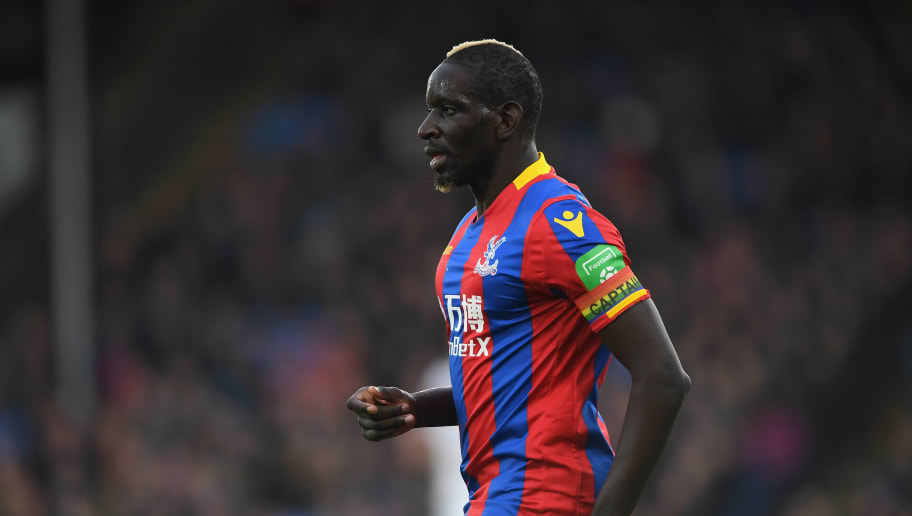 LONDON, ENGLAND - NOVEMBER 25:  Mamadou Sakho of Crystal Palace looks on during the Premier League match between Crystal Palace and Stoke City at Selhurst Park on November 25, 2017 in London, England.  (Photo by Mike Hewitt/Getty Images)