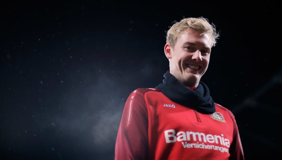 LEVERKUSEN, GERMANY - DECEMBER 13:  Julian Brandt of Bayer 04 Leverkusen looks on prior to the Bundesliga match between Bayer 04 Leverkusen and SV Werder Bremen at BayArena on December 13, 2017 in Leverkusen, Germany.  (Photo by Dean Mouhtaropoulos/Bongarts/Getty Images)