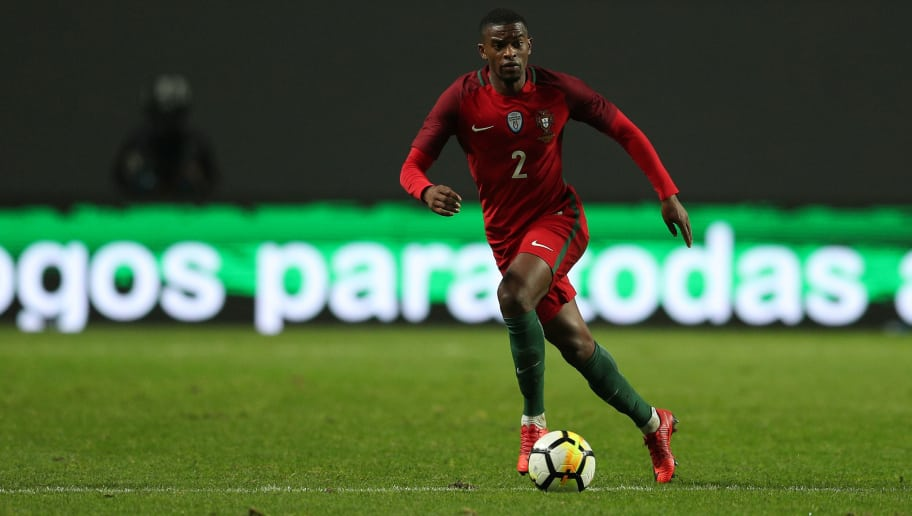 LEIRA, PORTUGAL -NOVEMBER 14:  Portugal defender Nelson Semedo during the match between Portugal and United States of America International Friendly at Estadio Municipal de Leiria, on November 14, 2017 in Leiria, Portugal.  (Photo by Carlos Rodrigues/Getty Images)