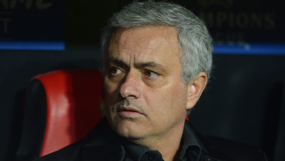 SEVILLE, SPAIN - FEBRUARY 21:  Jose Mourinho, Manager of Manchester United looks on during the UEFA Champions League Round of 16 First Leg match between Sevilla FC and Manchester United at Estadio Ramon Sanchez Pizjuan on February 21, 2018 in Seville, Spain.  (Photo by Aitor Alcalde/Getty Images)