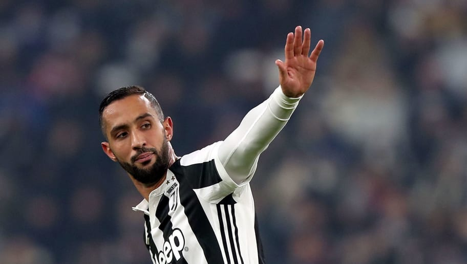 TURIN, ITALY - DECEMBER 23: Medhi Benatia of Juventus in action during the serie A match between Juventus and AS Roma on December 23, 2017 in Turin, Italy.  (Photo by Gabriele Maltinti/Getty Images)