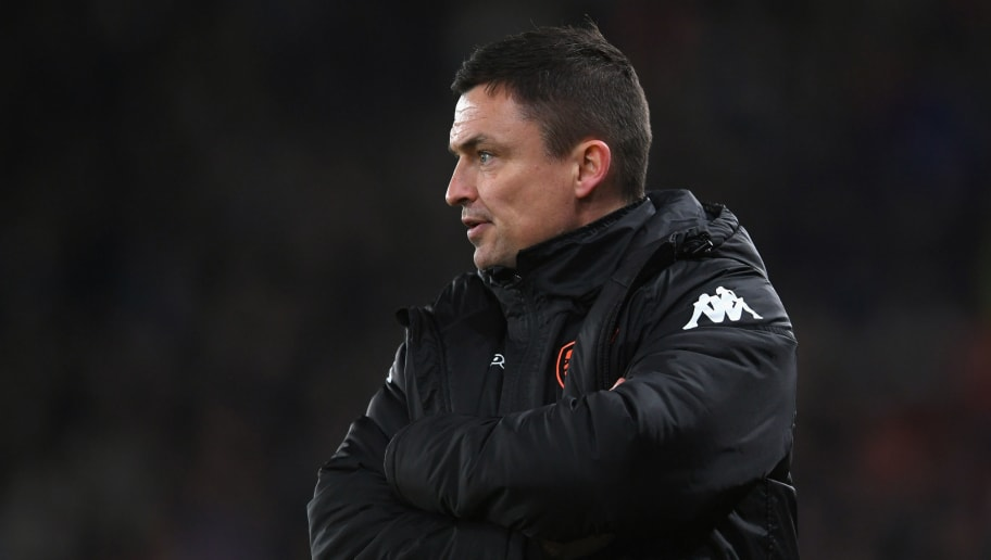 DERBY, ENGLAND - FEBRUARY 21:  Paul Heckingbottom Leeds manager gestures during the Sky Bet Championship match between Derby County and Leeds United at iPro Stadium on February 21, 2018 in Derby, England.  (Photo by Laurence Griffiths/Getty Images)