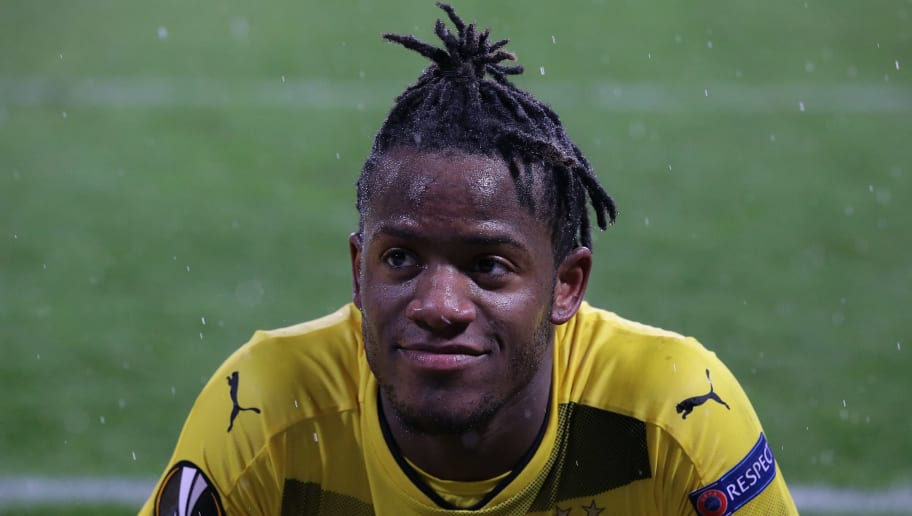 REGGIO NELL'EMILIA, ITALY - FEBRUARY 22:  Michy Batshuayi of Borussia Dortmund looks on at the end of the UEFA Europa League Round of 32 match between Atalanta and Borussia Dortmund at the Mapei Stadium - Citta' del Tricolore on February 22, 2018 in Reggio nell'Emilia, Italy.  (Photo by Emilio Andreoli/Getty Images)