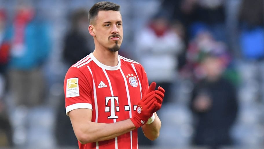 MUNICH, GERMANY - FEBRUARY 24: Sandro Wagner of Bayern Muenchen applauds the fans after the Bundesliga match between FC Bayern Muenchen and Hertha BSC at Allianz Arena on February 24, 2018 in Munich, Germany. (Photo by Sebastian Widmann/Bongarts/Getty Images)