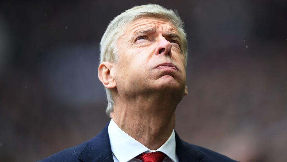LONDON, ENGLAND - FEBRUARY 10: Arsene Wenger, Manager of Arsenal reacts prior to the Premier League match between Tottenham Hotspur and Arsenal at Wembley Stadium on February 10, 2018 in London, England.  (Photo by Laurence Griffiths/Getty Images)