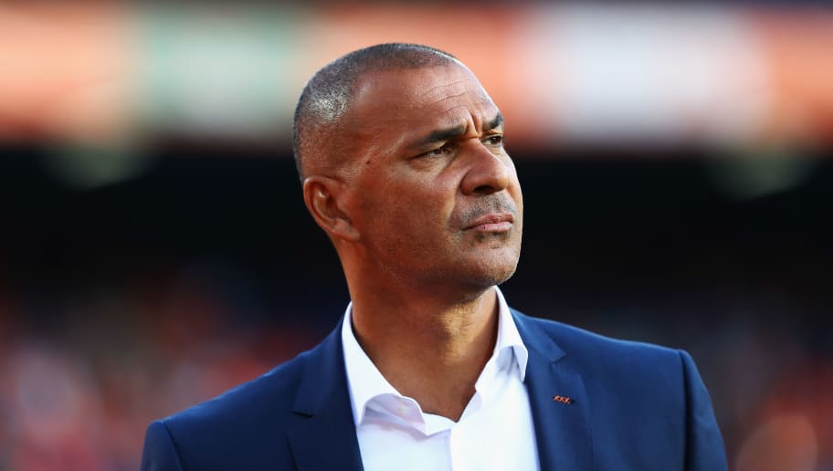 ROTTERDAM, NETHERLANDS - JUNE 09:  Netherlands Assistant Head Coach / Manager, Ruud Gullit looks on during the FIFA 2018 World Cup Qualifier between the Netherlands and Luxembourg held at De Kuip or Stadion Feijenoord on June 9, 2017 in Rotterdam, Netherlands.  (Photo by Dean Mouhtaropoulos/Getty Images)