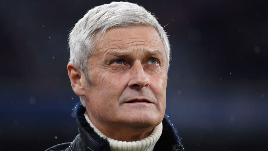 MUNICH, GERMANY - DECEMBER 13: Sport Director of Koeln Armin Veh looks on prior to the Bundesliga match between FC Bayern Muenchen and 1. FC Koeln at Allianz Arena on December 13, 2017 in Munich, Germany. (Photo by Matthias Hangst/Bongarts/Getty Images)